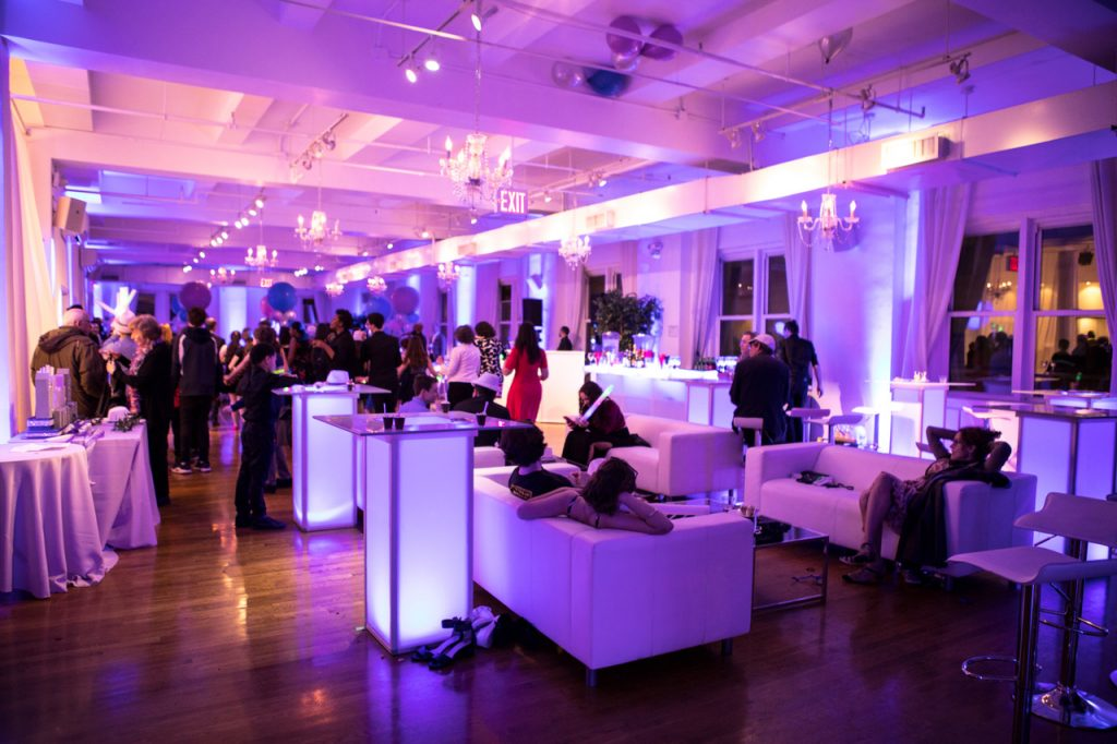9 Midtown Loft venue space decorated for Sweet 16 event