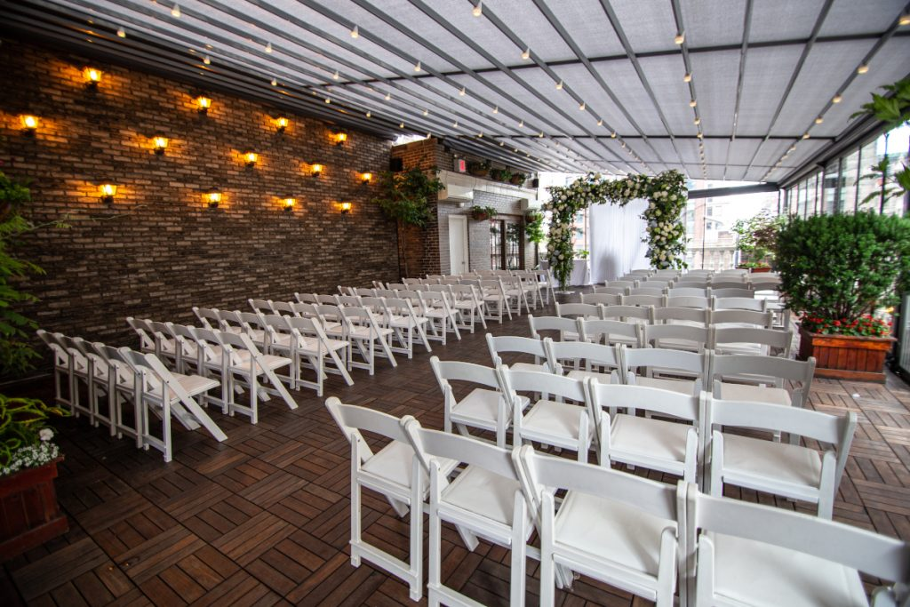 12 Midtown Loft venue decorated for a private wedding