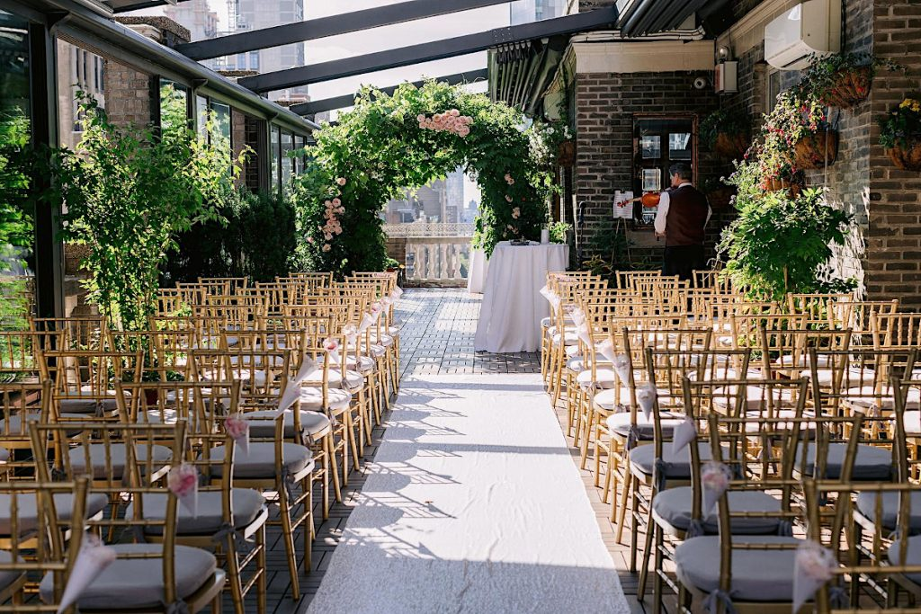 15 Midtown Loft venue decorated for a private wedding