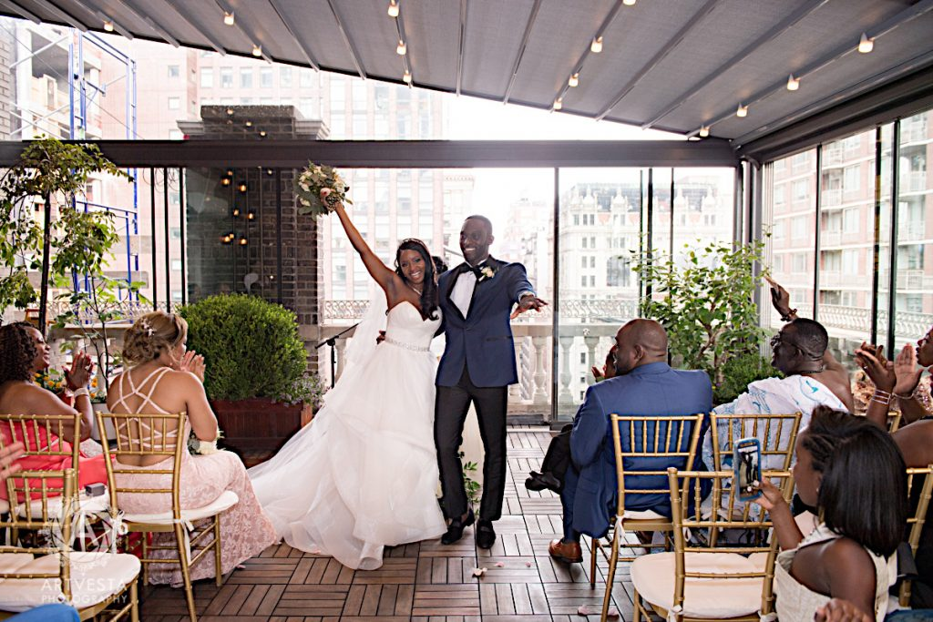 44 Midtown Loft venue decorated for a private wedding
