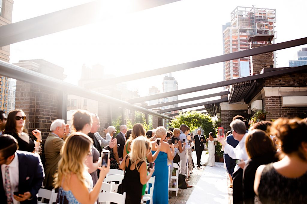 66 Midtown Loft venue decorated for a private wedding