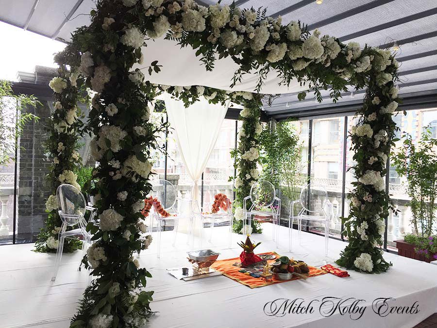 50 Midtown Loft venue decorated for a private wedding