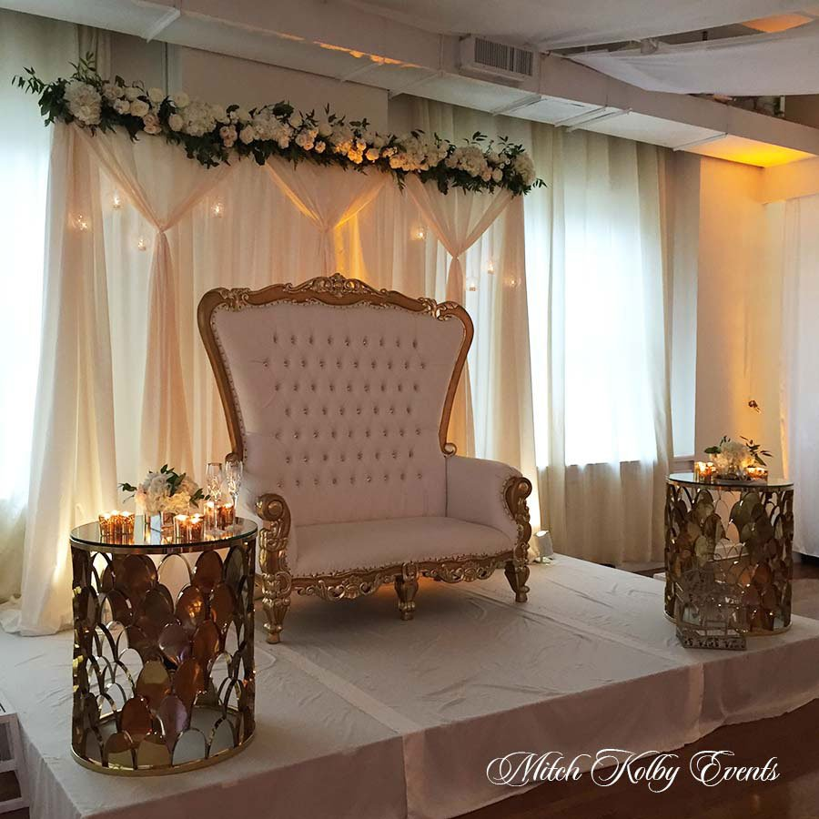 57 Midtown Loft venue decorated for a private wedding