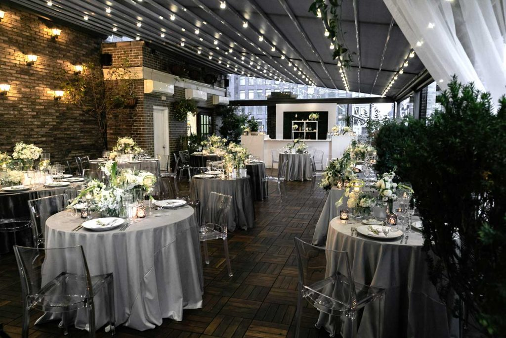 #84: Rooftop wedding reception